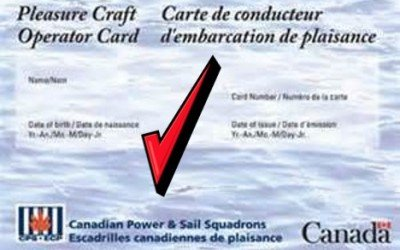 Pleasure Craft Operator Card